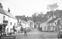 Dunster, High Street And Castle c.1938