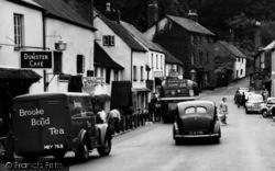 Dunster, High Street Vehicles c.1960
