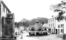 Dunster, Market House And Castle 1888