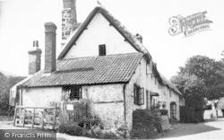 Dunster, Old Cottage c.1955