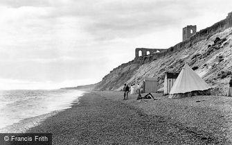 Dunwich, the Beach and Church Ruins 1909