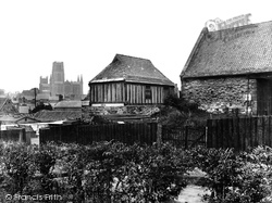 Cathedral And Old Tithe Barn, Hallgarth 1929, Durham