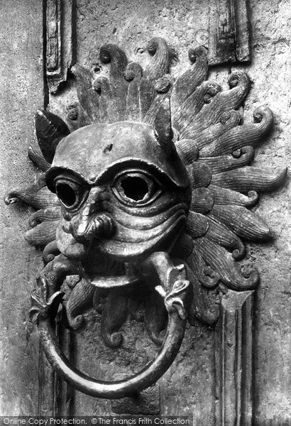 & Photo of Durham Cathedral North Door The Sanctuary Knocker c.1877