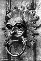 Cathedral, North Door, The Sanctuary Knocker c.1877, Durham