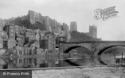 Framwellgate Bridge And The Castle 1892, Durham