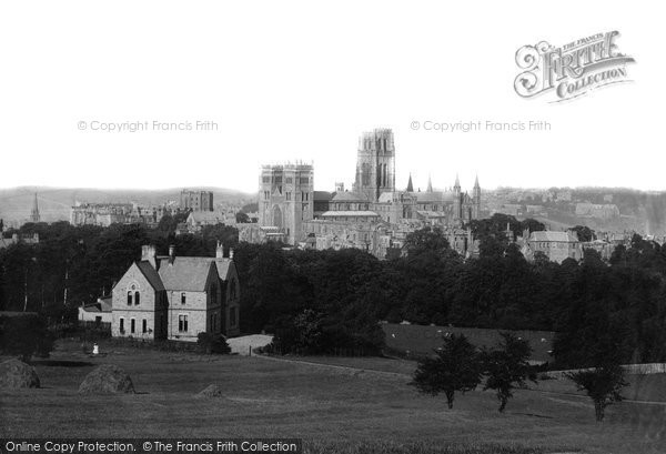Photo of Durham, From Observatory Hill 1892