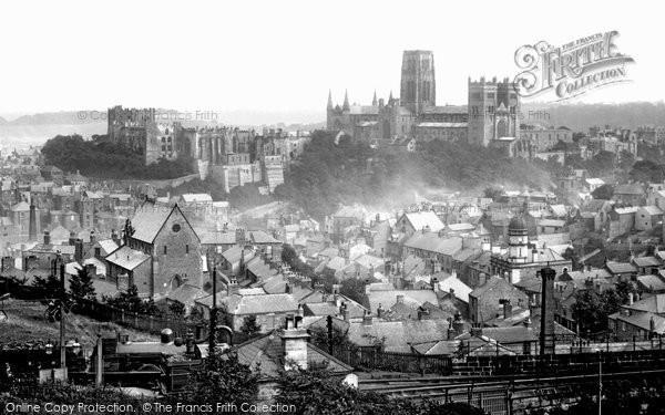 Durham, from Railway Station 1892