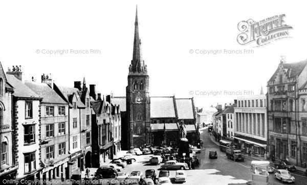 Photo of Durham, Market Place c1955, ref. d71054