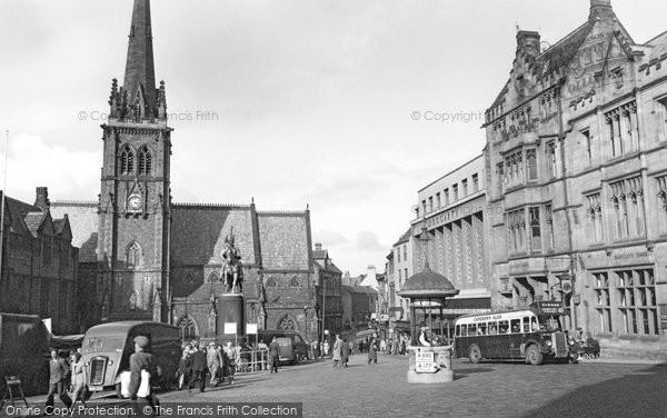 Photo of Durham, Market Square 1954, ref. d71032