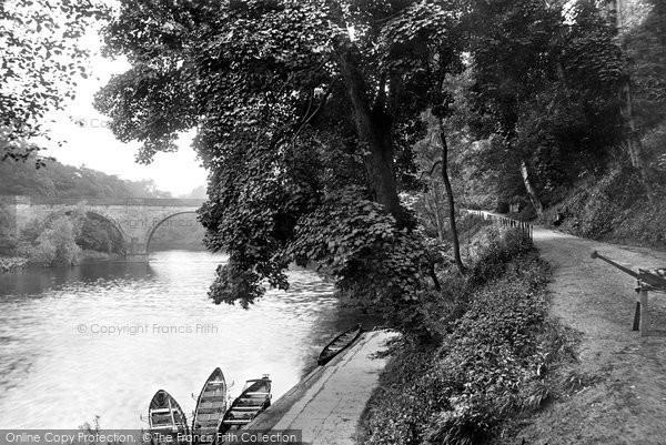 Photo of Durham, Prebends Bridge and Banks 1914, ref. 67132