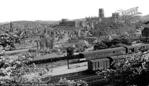 Photo of Durham, the Castle and Cathedral c1955, ref. d71057