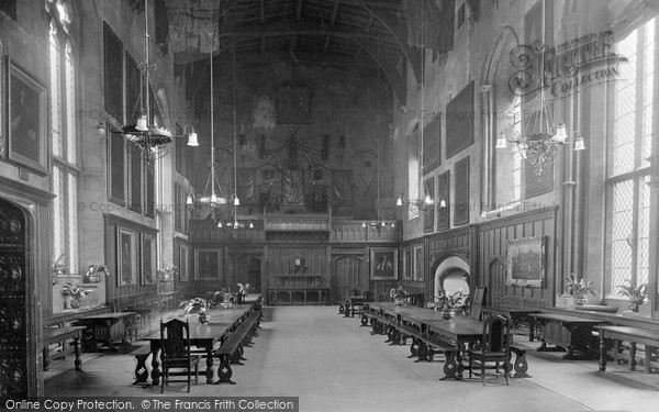 Photo of Durham, the Castle Great Hall 1921, ref. 70726