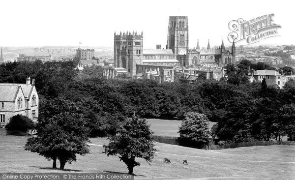 Photo of Durham, the Cathedral from Observatory Hill 1918, ref. 68213