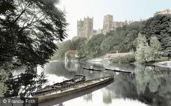 Durham, the Cathedral from the River Wear 1921