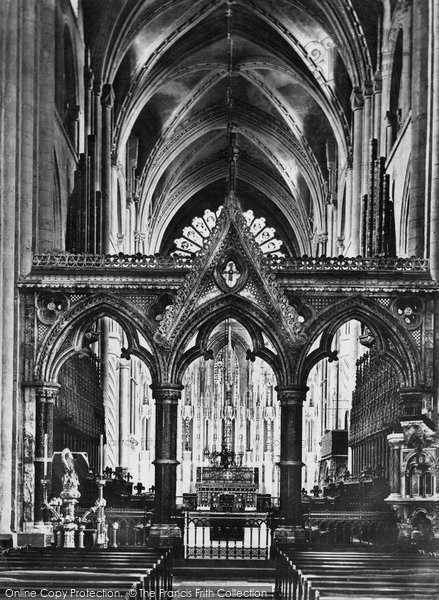 Photo of Durham, the Cathedral  Nave and the Screen c1877, ref. 9418