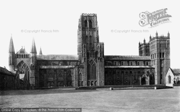 Photo of Durham, the Cathedral, north side c1883, ref. 16143