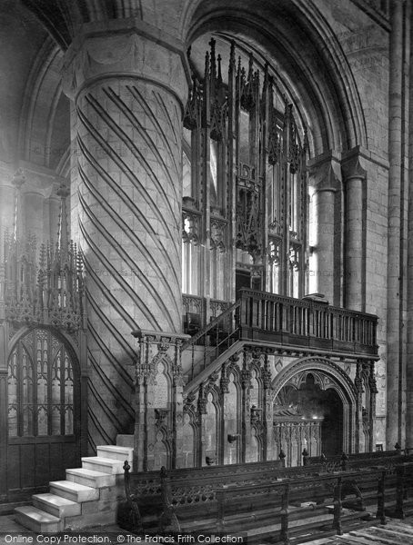 Photo of Durham, The Cathedral, The Bishop's Throne 1925