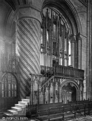 The Cathedral, The Bishop's Throne 1925, Durham