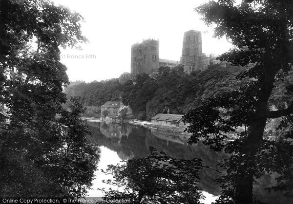 Photo of Durham, the Cathedral through the trees 1892, ref. 30732