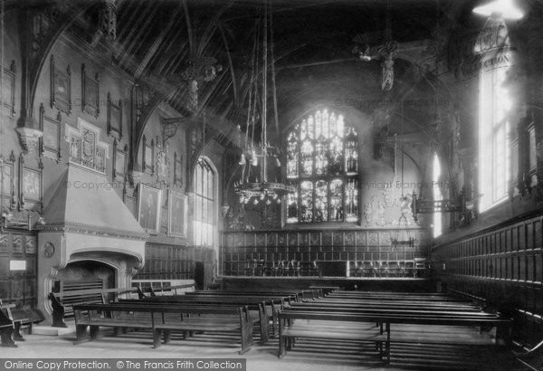 Photo of Durham, The Town Hall Interior 1918