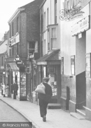 Dursley, Man Carrying Sack, Silver Street c.1950