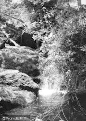 Dwygyfylchi, The Falls, The Fairy Glen c.1955