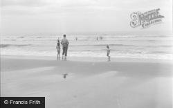 Dyffryn Ardudwy, Bathing On The Beach 1951