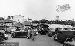 Dymchurch, Car Park And Fun Fair c.1955