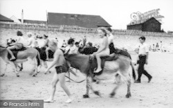 Dymchurch, Donkey Rides On The Sands c.1955