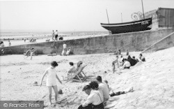 Dymchurch, Sands And Boat c.1960