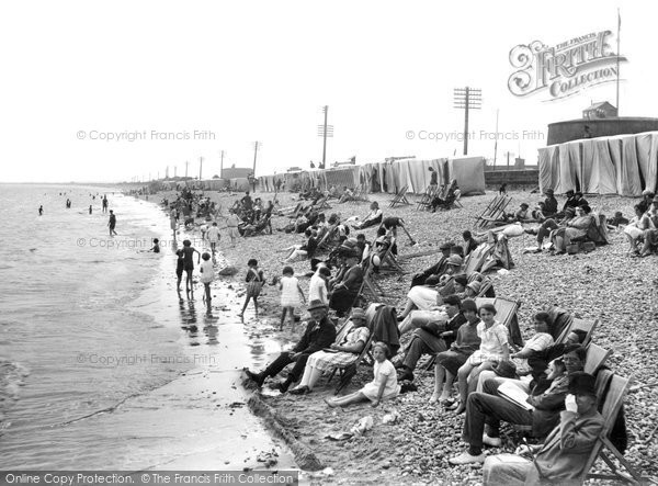 Photo of Dymchurch, The Beach 1927