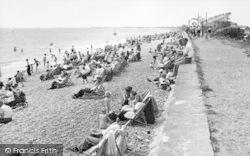 Dymchurch, The Beach And Promenade c.1955