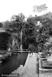 The Falls From The Gardens c.1955, Dyserth
