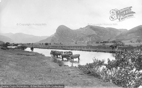 Photo of Dysynni Valley, Bird Rock And Dysynni River 1895