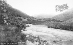 Dysynni Valley, Dysynni River From Near Pont Ystumaner 1895