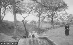 Earby, Paddling Pool At Waterfalls c.1955