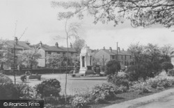 Earby, The War Memorial And Sough Park c.1950
