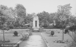Earby, The War Memorial And Sough Park c.1955