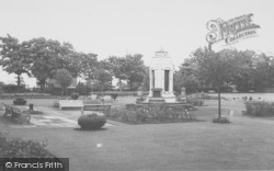 Earby, The War Memorial And Sough Park c.1960