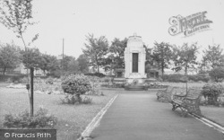 Earby, The War Memorial, Sough Park c.1955
