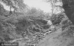 Earby, Waterfalls c.1955