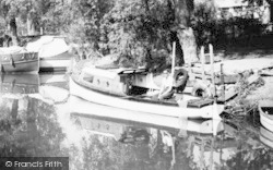 Earith, Angling On The River Ouse c.1955