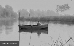 Fishing On The River Ouse c.1955, Earith