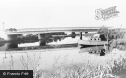 Earith, River Ouse And New Bridge c.1960