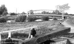 Earith, Suspension Bridge c.1955