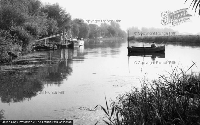 Earith, the River Ouse c1955