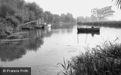 Earith, The River Ouse c.1955