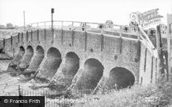 Earith, The Seven Hole Bridge c.1955