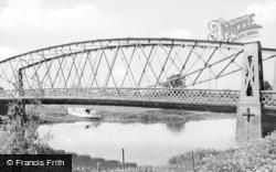 Earith, The Suspension Bridge c.1955