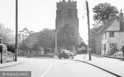 Earls Colne, The Church And War Memorial c.1955
